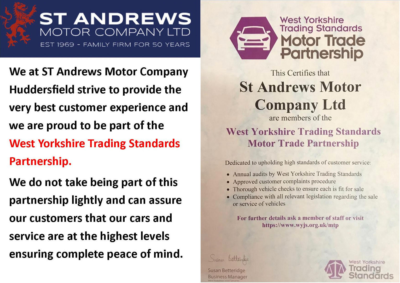 St Andrews - Trading Standards Award